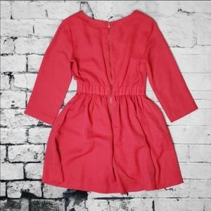 Fit and flare mini dress - pink coral H&M
